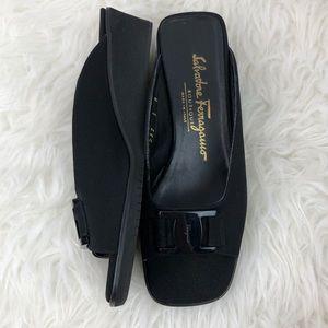 Salvatore Ferragamo Boutique Black wedge sandal
